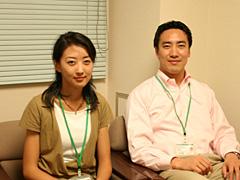 柔軟な発想力とスピーディな行動力でプロジェクトを進める高嶋取締役(右)と、2005年の新卒入社とは思えないほどハキハキと話してくれた山口さん(左)