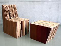 作品:『Pile chair and ottoman』 梅原高秋