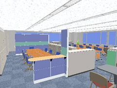 エントランスから丸見えのオフィス。机の上の重要情報が見えてしまうかも。